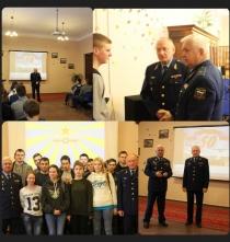 Встреча студентов с заслуженными военными летчиками РФ.