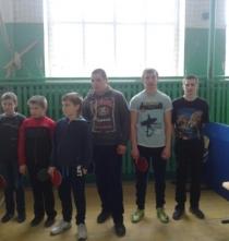 Участие в районных соревнованиях по настольному теннису