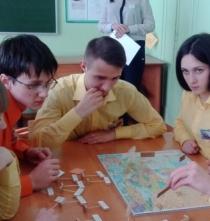 Участие в областной игре «Избирательный марафон «Выборы»