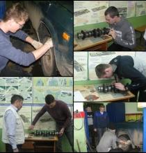 Первый этап региональной олимпиады профессионального мастерства по специальности «Техническое обслуживание и ремонт автомобильного транспорта».