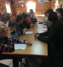Встреча в воскресной школе при храме Вознесения Господня.