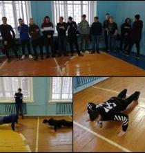 Внутриколледжные соревнования по жиму лежа, посвященные Дню Защитника Отечества.